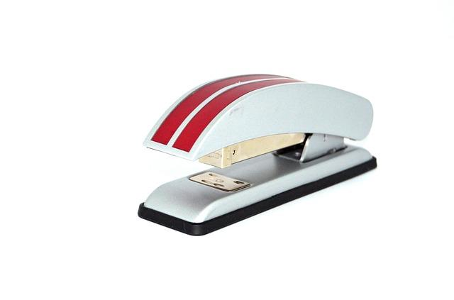 stapler, office, paper